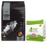 Three cats gatos +6 meses castrados 10kg + arena Eco Cane 1.3kg de regalo (Exclusivo online)