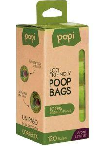 Bolsas biodegradables Popi pack 8 rollos 120 bolsas