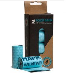 Bolsas poop bags biodegradable Zee Dog x 4 rollos 15 uds