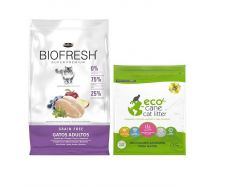 Biofresh gatos adultos 7.5Kg + sanitario Eco Cane 1.3kg (Exclusivo online)