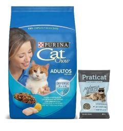 Cat Chow adulto pescado 15+3kg + Sanitario 4kg de regalo (Exclusivo online)