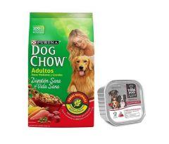 Dog Chow adulto razas medias y grandes 21 + 3Kg + paté (Exclusivo online)
