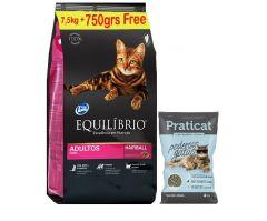Equilibrio gato adulto 7,5kg + sanitario 4kg de regalo (Exclusivo online)