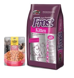 Frost gato kitten 7.5Kg + Saché Three cats (Exclusivo online)
