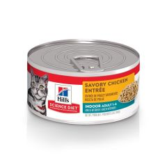 Hills gato adulto savory chicken entree lata 156gr.