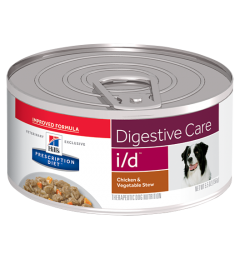 Hills perro adulto I/D digestive care chicken & vegetable stew lata 156gr.