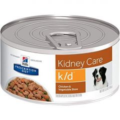 Hills perro adulto K/D kidney care chicken & vegetable stew lata 156gr.