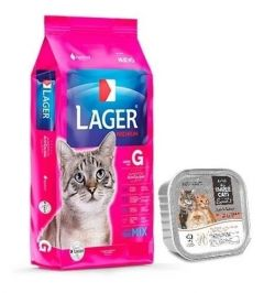 Lager gato adulto 10Kg + paté Three Cats (Exclusivo online)