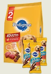 Pedigree adulto 21 kg + 3 snacks (Exclusivo online)