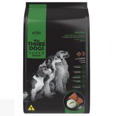 Three Dogs adulto razas med y gdes carne y arroz 15+2kg + paraguas de regalo