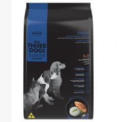 Three Dogs cachorro pollo y arroz 15+2Kg  + paraguas de regalo