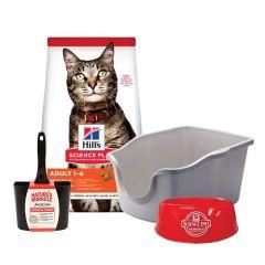 Super pack Hills gato adulto 7.25kg + bandeja sanitaria + pala + plato